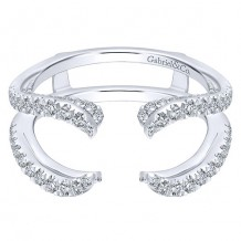 Gabriel & Co 14k White Gold 0.60ct Diamond Jacket Band