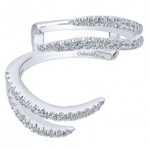 Gabriel & Co 14k White Gold 0.41ct Diamond Jacket Band