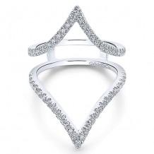 Gabriel & Co 14k White Gold 0.61ct Diamond Wedding Band