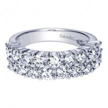 Gabriel & Co 14k White Gold 2ct Diamond Wedding Band