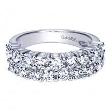 Gabriel & Co 14k White Gold 2ct Diamond Wedding Band