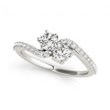 14k White Gold 3/4ct Diamond Engagement Ring
