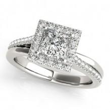 Overnight 18k White Gold Diamond Engagement Ring
