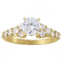 Overnight 18k Yellow Gold Diamond Engagement Ring