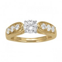 Overnight 18k Yellow Gold Diamond Engagement Ring