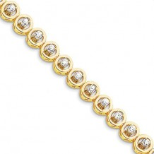 Quality Gold 14k Yellow Gold & Diamond Add-A-Dia Bracelet