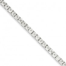 Quality Gold 14k White Gold Illusion Setting Diamond Bracelet