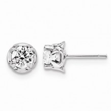 Quality Gold 14K White Gold & Diamond Post Earrings