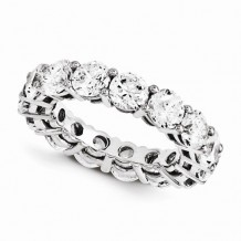 Quality Gold 14K White Gold & Diamond Eternity Band