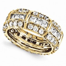 Quality Gold 14k Yellow Gold Diamond Eternity Band