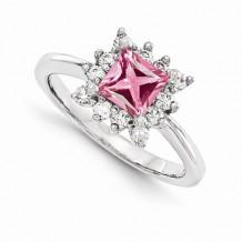 Quality Gold 14k White Gold & Diamond Semi-Mount Gemstone Ring