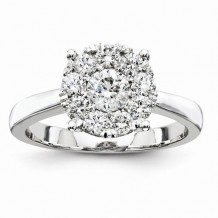 Quality Gold 14K White Gold Diamond Engagement Ring