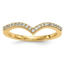 Quality Gold 14k Yellow Gold Diamond V Ring