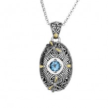 Philip Gavriel 18k Yellow Gold and Sterling Silver Pendant