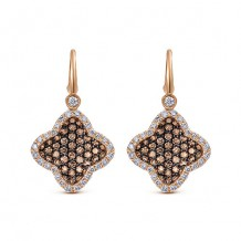 14k Rose Gold Gabriel & Co. Cocoa Diamond Drop Earrings