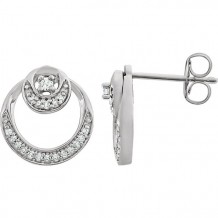 Stuller 14k White Gold Diamond Circle Earrings