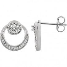 Stuller 14k White Gold Diamond Circle Earrings