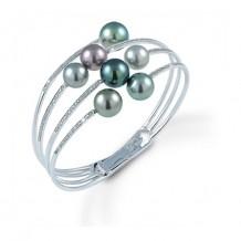 Imperial Pearl 14k White Gold Tahitian Pearl Bracelet