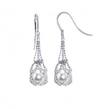 Imperial Pearl Sterling Silver Freshwater Pearl Lace Earrings