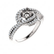 Stuller 14k White Gold Diamond Twist-Style Engagement Ring