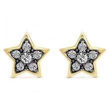 14k Yellow Gold Gabriel & Co. Diamond Stud Earrings
