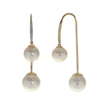 Imperial Pearl 14K Yellow Gold Freshwater Pearl Earrings