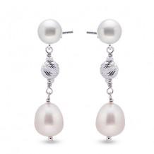 Imperial Pearl Sterling Freshwater Pearl Earrings
