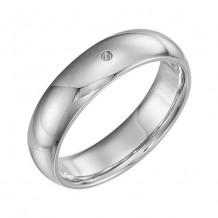 Stuller 14k White Gold 0.10ct Diamond Wedding Band