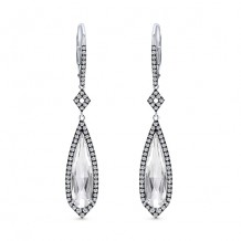 14k White Gold Gabriel & Co. Diamond White Crystal Drop Earrings