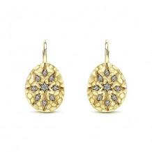 14k Yellow Gold Gabriel & Co. Diamond Drop Earrings