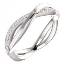 14k White Gold Stuller Diamond Infinity Ring