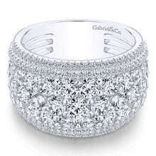 Gabriel & Co 18K White Gold 3.19ct Diamond Wedding Band