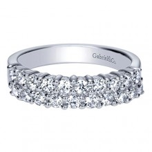 Gabriel & Co 14k White Gold 0.80ct Diamond Wedding Band